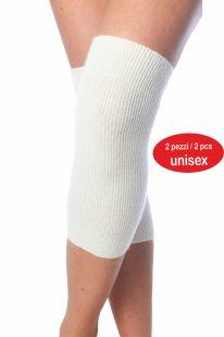 Bande pour le genou ou coude en laine Angora, deux pieces