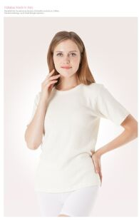Maglietta in lana d'Angora a mezza manica - Maglia termica