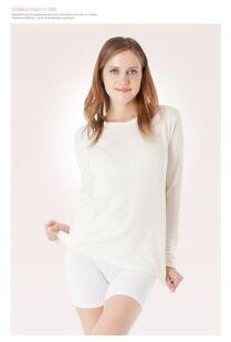 Maglietta in lana d'Angora a manica lunga - Maglia termica
