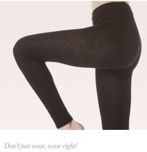 Angora wool leggings