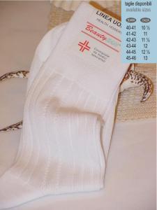 Calzino sanitario uomo, calza adatta per ricovero ospedaliero