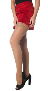 Support hold up stockings with graduated compression 140d