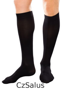 Men kneehigh with graduated compression+silver fibre