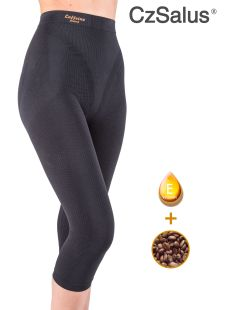 Pantaloncino capri anticellulite contenitivo, guaina media snellente con Caffeina + Vitamina E