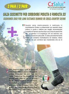 Gepolsterte Socken speziell für Läufer oder Langläufer - 2 PAAR