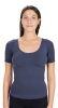 Formendes und verschlankendes Anti-Cellulite-Damen-Thermo-Shirt mit kurzen Ärmeln aus emana® bioFIR