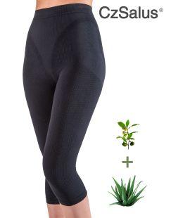 Pantaloncino capri anticellulite contenitivo, guaina media snellente con Aloe Vera + tè verde