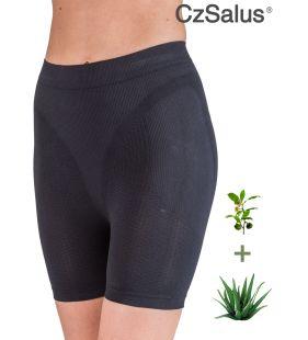 Pantaloncino corto anticellulite contenitivo, guaina snellente con Aloe Vera + tè verde