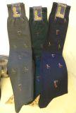 Angebot 6 Paar Herrenstrümpfe aus feiner Wolle mit Golf-Muster