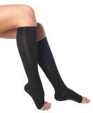 Medias hasta la rodilla médicas de segunda clase (K2) con compresión graduada 200 den, sin punta