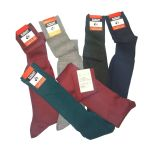 Offerta 6 paia calze gambaletto uomo lana a costina