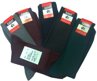Offerta 6 paia calze corte uomo lana a costina