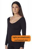 Camiseta de manga larga de compresión para mujer, indicada para personas que sufren de lipedema y linfedema