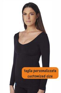 Maglia donna compressione, maniche PERSONALIZZATE, misure forti, valido supporto sofferenti di Lipoedema Linfoedema