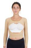 Bolero post opératoire avec manches à compression K1, serre-bras raffermissant amincissant