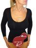 Formendes und verschlankendes Anti-Cellulite-Damen-Thermo-Shirt mit langen Ärmeln aus emana® bioFIR