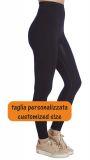 Pantalon long léger, legging amincissant à moyen compression  pour les lipœdèmes et les lymphœdème. Taille personnalisée
