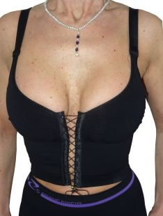 Comfortable and sexy corset bra with a lace-up on