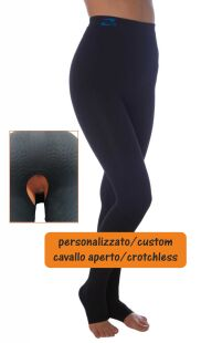 Pantaloncino lungo, CAVALLO APERTO, a compressione alta MISURE PERSONALIZZATE Post-op, liposuzione Lipedema Linfedema