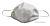 Mascherina protettiva idrorepellente a 2 strati, lavabile e riutilizzabile molte volte, trattamento antigoccia